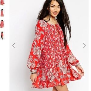 Like NEW Condition Free People Floral Tunic Dress.